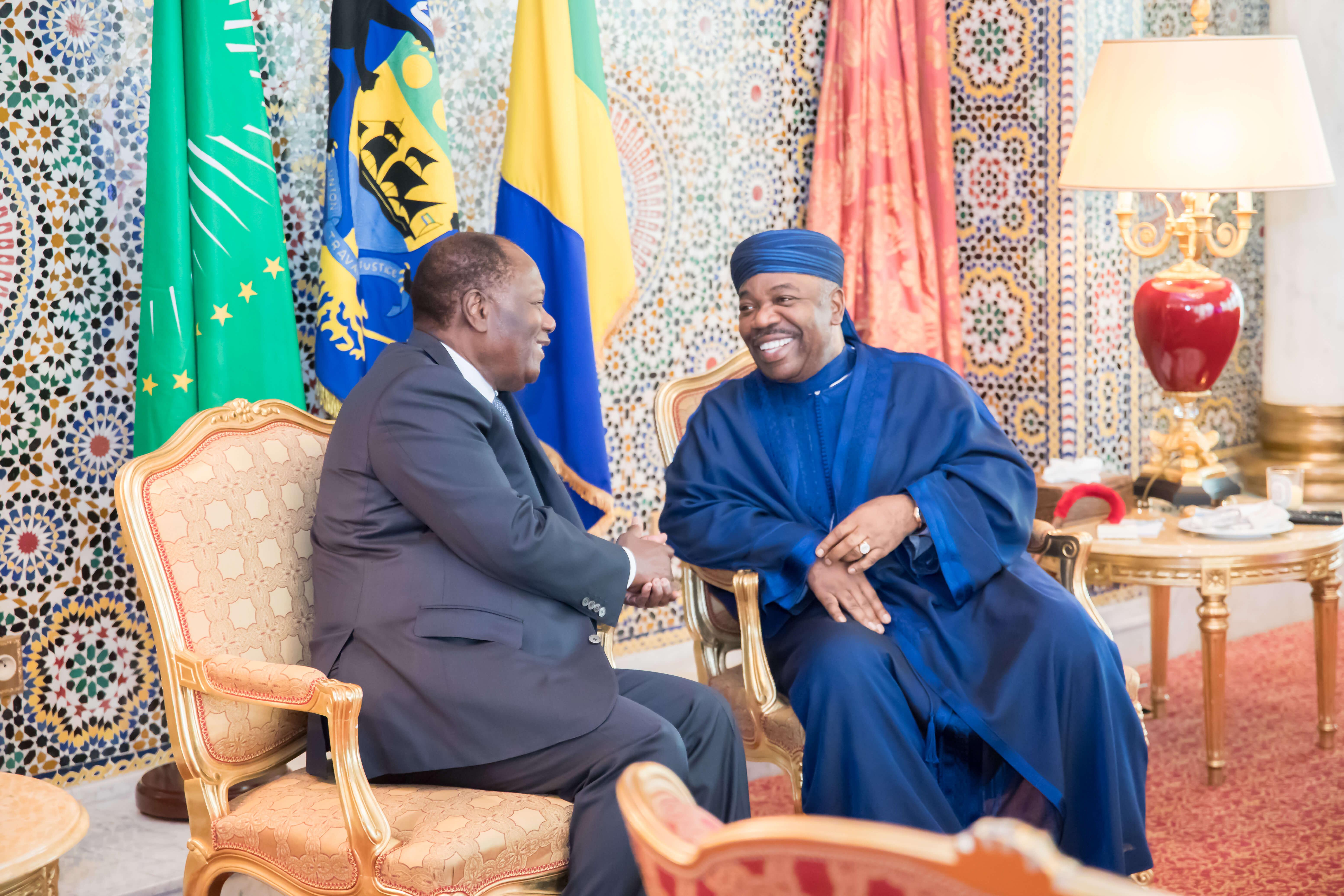 Entretien entre S.E. Ali Bongo Ondimba et S.E. Alassane Dramane Ouattara